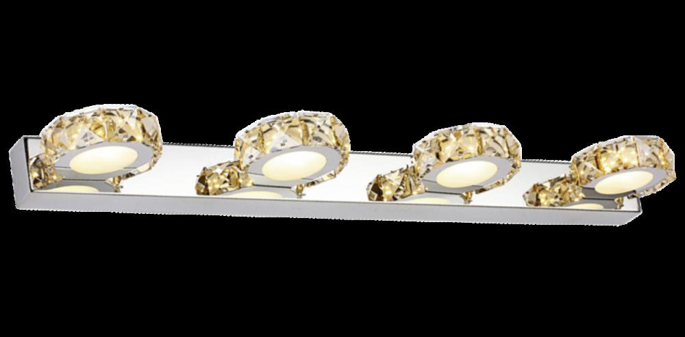 Aplica de perete baie LED CHAMPAGNE auriu si crom H5xL62xW115 cm imagine 2021 insignis.ro