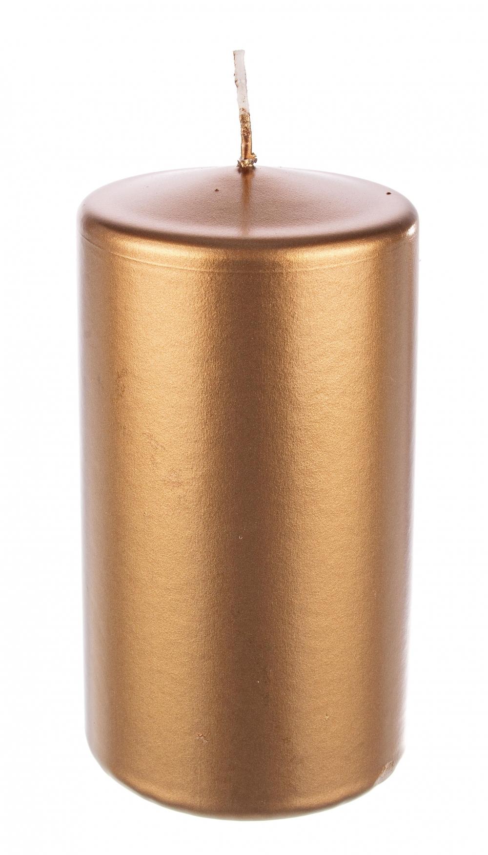 Lumanare stalp Copper H12cm imagine 2021 insignis.ro