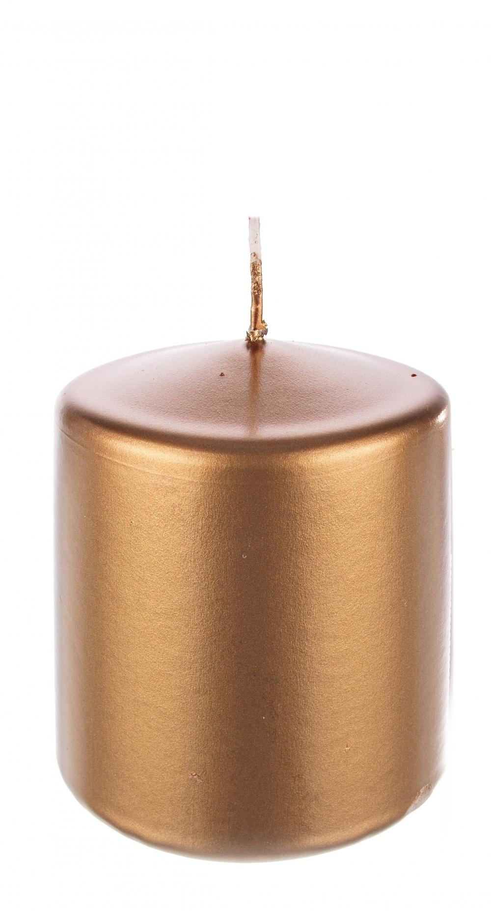 Lumanare stalp Copper H8cm imagine 2021 insignis.ro