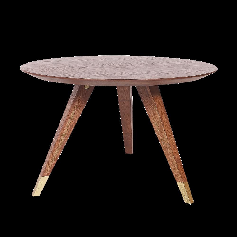 Masa rotunda din lemn masiv de stejar Modern Times D120cm imagine 2021 insignis.ro