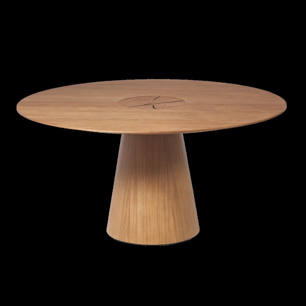 Masa rotunda din lemn masiv de stejar finisaj natural Chill Out imagine 2021 insignis.ro