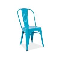 Scaun Tolix colorat - albastru