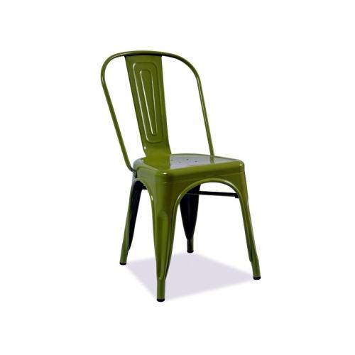 Scaun Tolix colorat - verde inchis