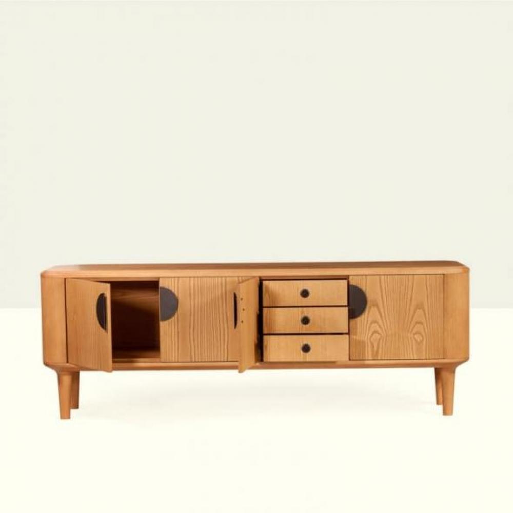 Comoda din lemn masiv de frasin Omicron L200cm title=Comoda din lemn masiv de frasin Omicron L200cm