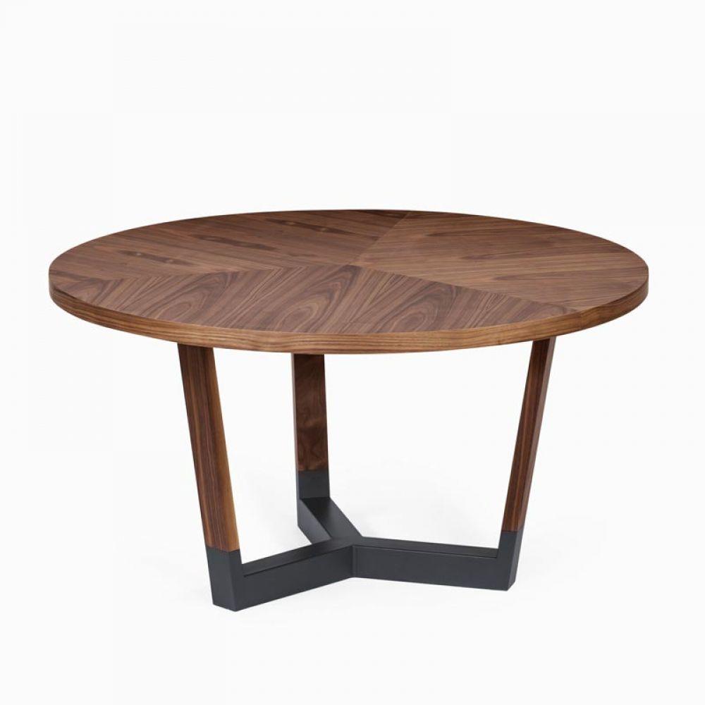 Masa cu blat rotund din lemn de frasin Sito imagine 2021 insignis.ro