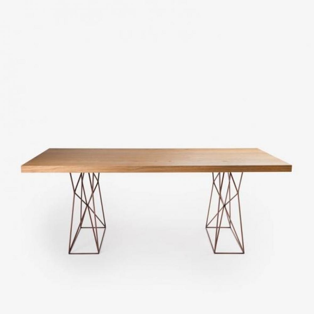 Masa dreptunghiulara moderna din lemn de frasin Pilon L180cm imagine 2021 insignis.ro