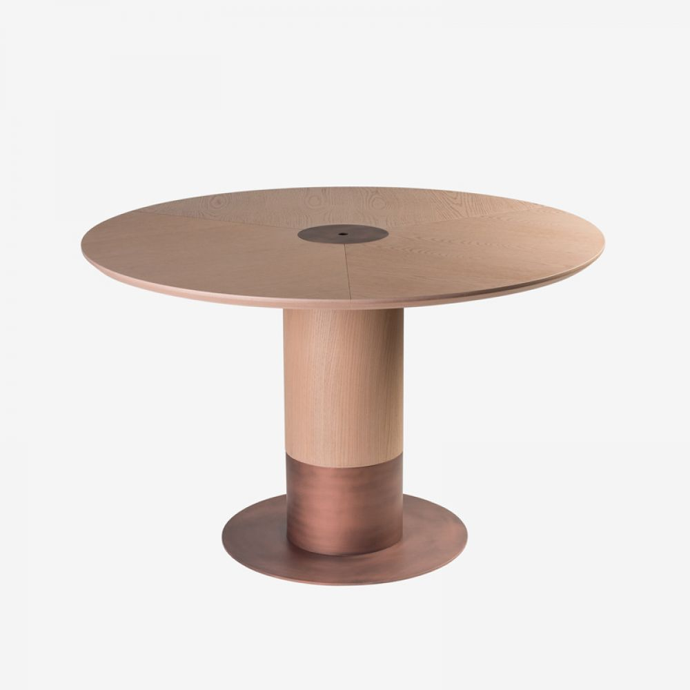 Masa rotunda din lemn masiv de frasin Cildo imagine 2021 insignis.ro