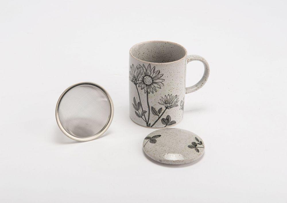 Cana pentru ceai cu infuzor si capac Faustine 330ml imagine 2021 insignis.ro