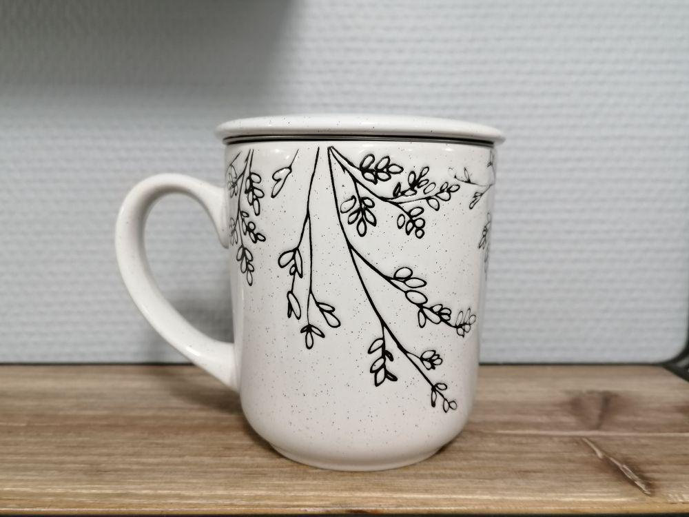 Cana pentru ceai cu infuzor si capac Alize H10cm imagine 2021 insignis.ro
