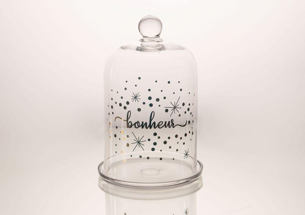Suport pentru prajituri clopot sticla transparenta Bonheur H31cm imagine 2021 insignis.ro