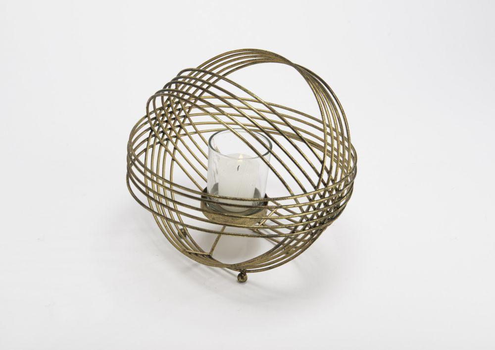 Suport lumanare decorativ Ball H20cm imagine 2021 insignis.ro