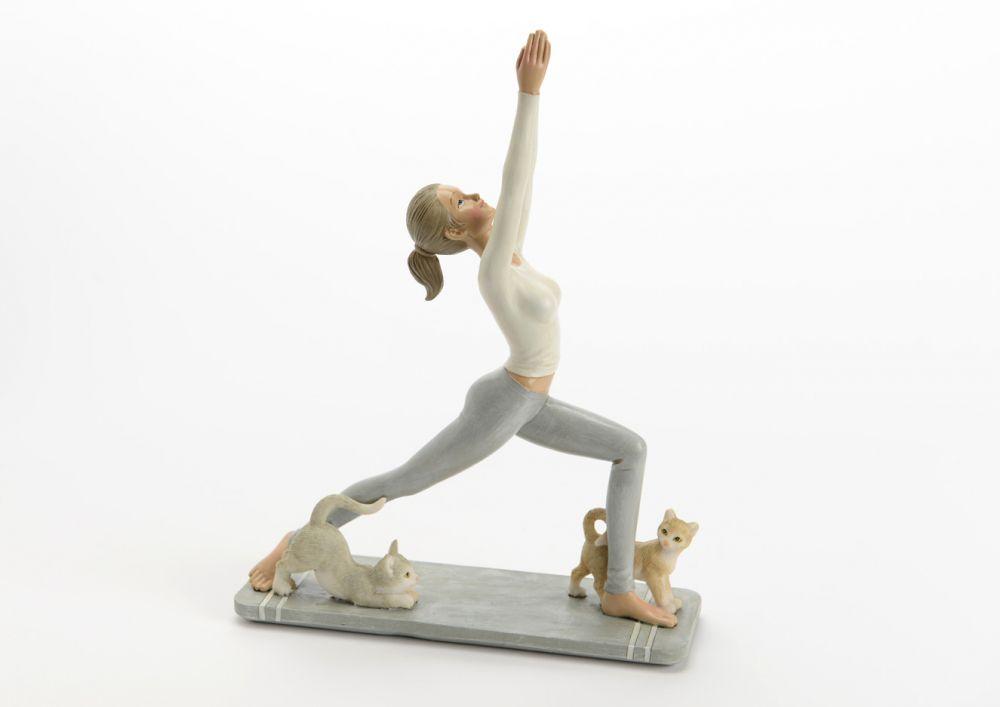 Figurina decorativa Yoga 19x25x6.5cm imagine 2021 insignis.ro