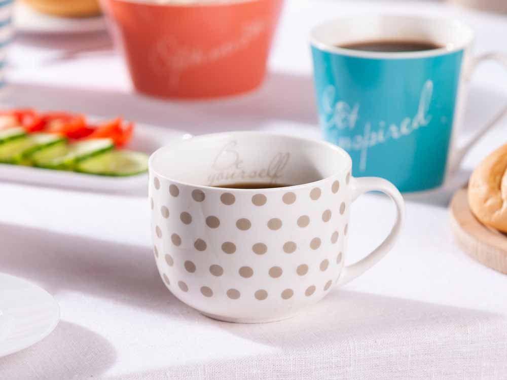 Cana pentru ceai/cafea din portelan Melania 470ml Be yourself imagine 2021 insignis.ro