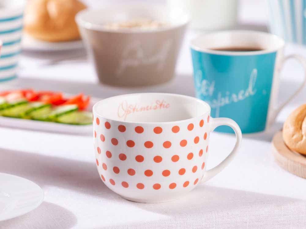 Cana pentru ceai/cafea din portelan Melania 470ml Optimistic imagine 2021 insignis.ro