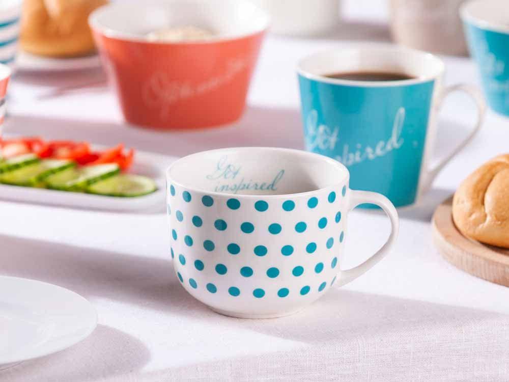 Cana pentru ceai/cafea din portelan Melania 470ml Get Inspired imagine 2021 insignis.ro