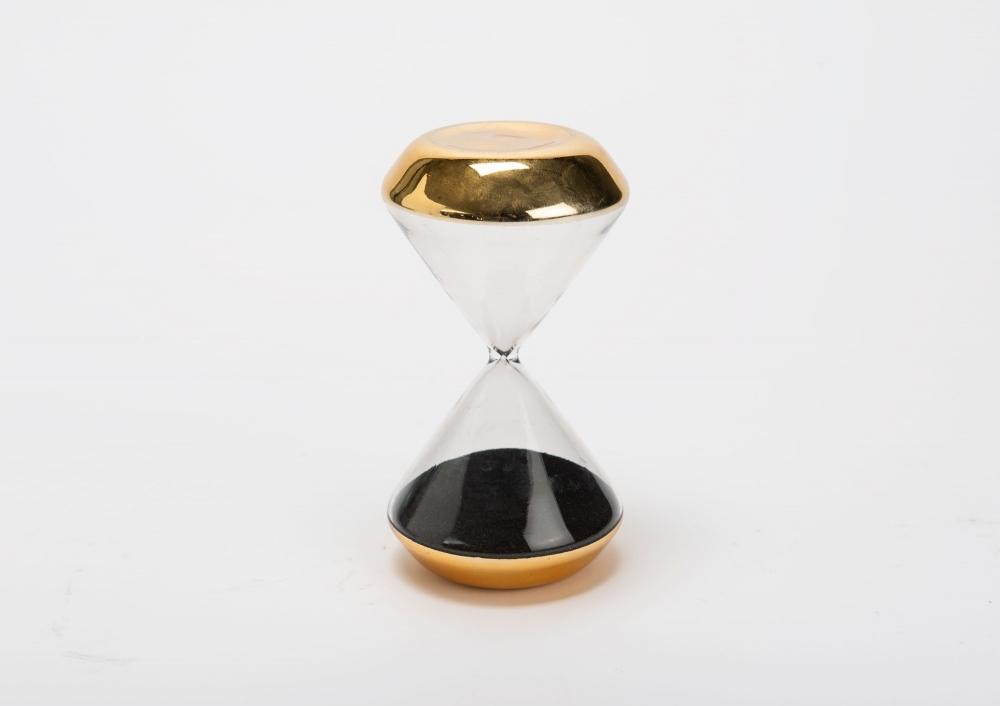 Clepsidra decorativa cu nisip Sablier auriu imagine 2021 insignis.ro