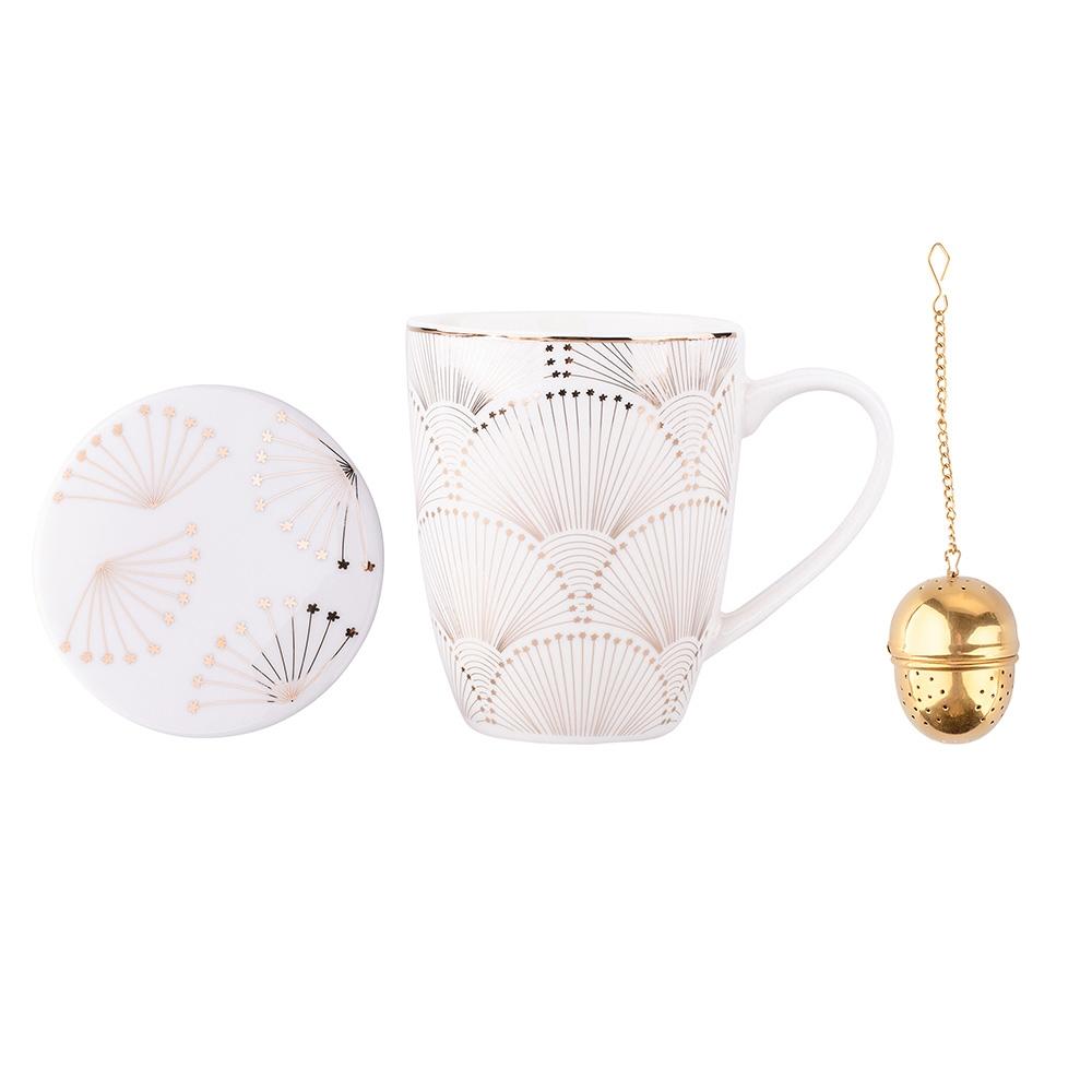 Cana pentru ceai cu capac si infuzor Modern Nature 300ml (ambalaj cadou) imagine 2021 insignis.ro