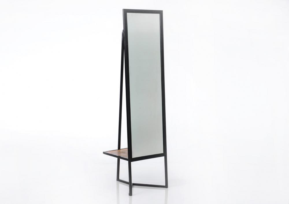 Oglinda de podea cu cuiere si spatiu depozitare accesorii Deco H170cm imagine 2021 insignis.ro