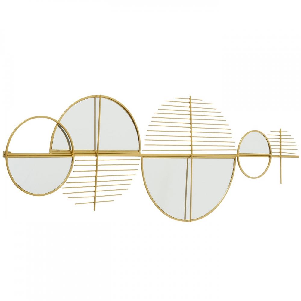 Decoratiune de perete abstracta cu oglinzi Gogolo L114cm imagine 2021 insignis.ro