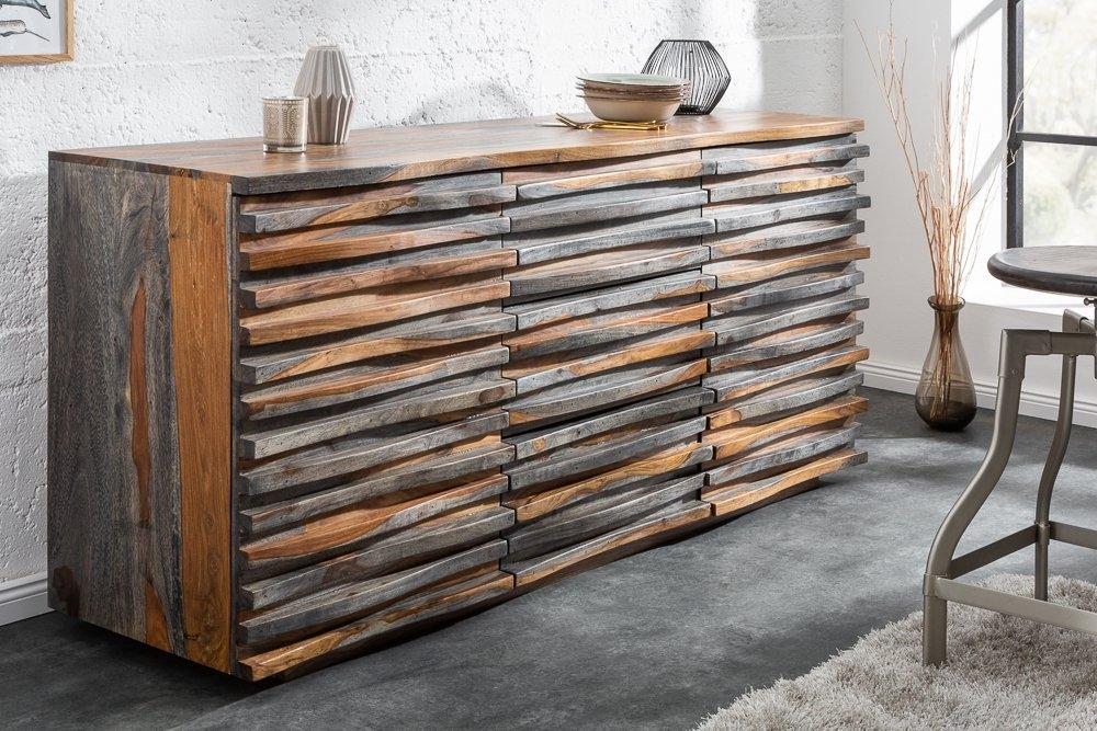 Comoda din lemn de palisandru Fum L160cm x H75cm x l45cm