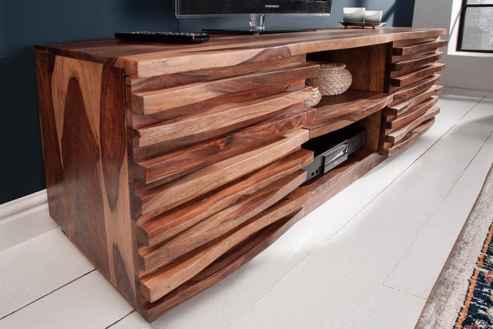 Comoda TV din lemn de palisandru Relief L150cm imagine 2021 insignis.ro