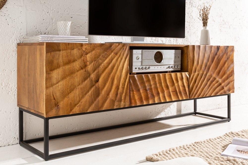 Comoda TV din lemn de mango Scorpion L160cm maro imagine 2021 insignis.ro