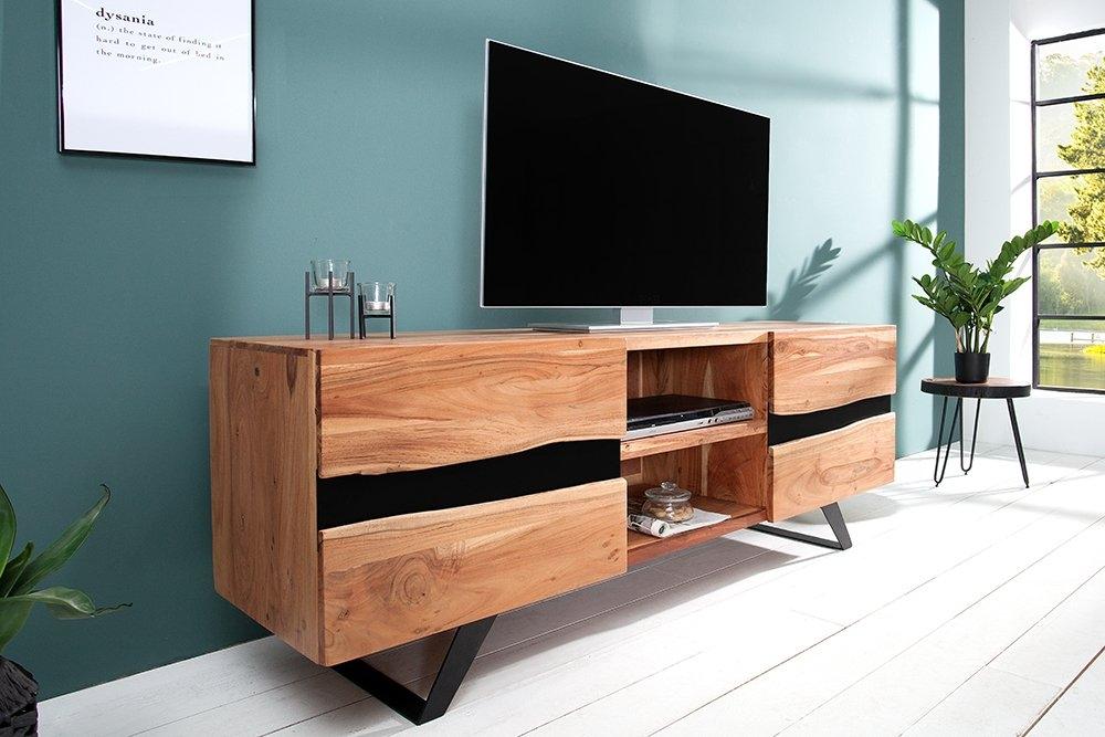 Comoda TV din lemn masiv de salcam Amazon L160cm imagine 2021 insignis.ro
