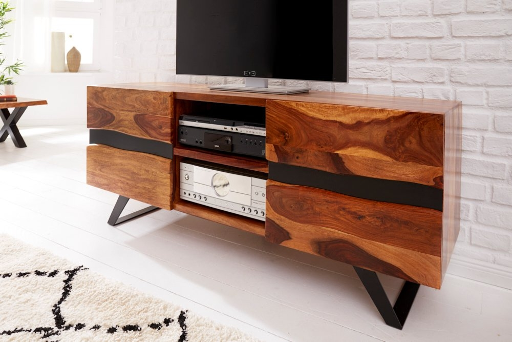 Comoda TV din lemn masiv de palisandru Amazon L160cm imagine 2021 insignis.ro