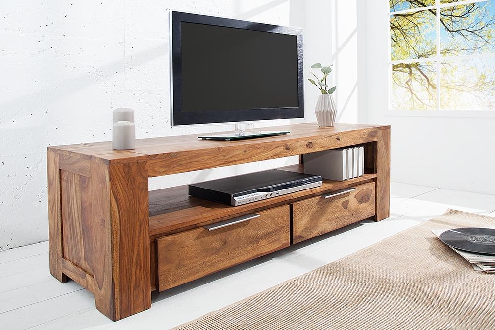 Comoda TV din lemn de palisandru Makassar L135cm imagine 2021 insignis.ro