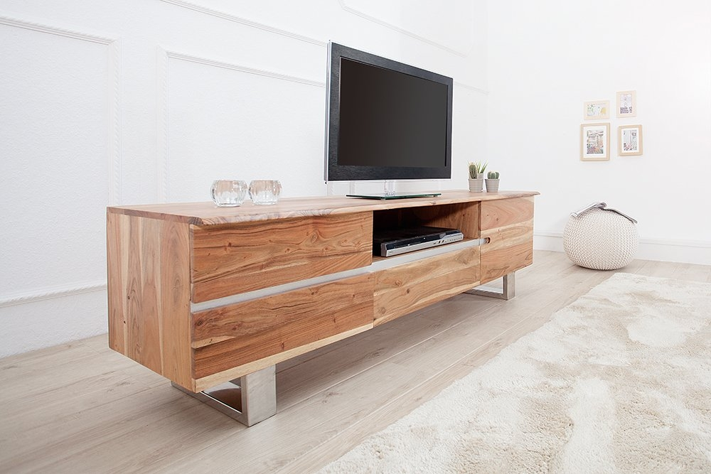 Comoda TV din lemn masiv de salcam Mammut L160cm imagine 2021 insignis.ro