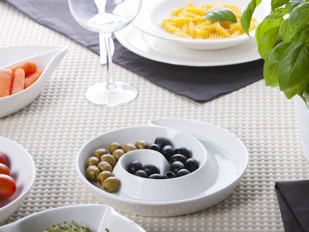 Platou servire aperitive din portelan Regular imagine 2021 insignis.ro