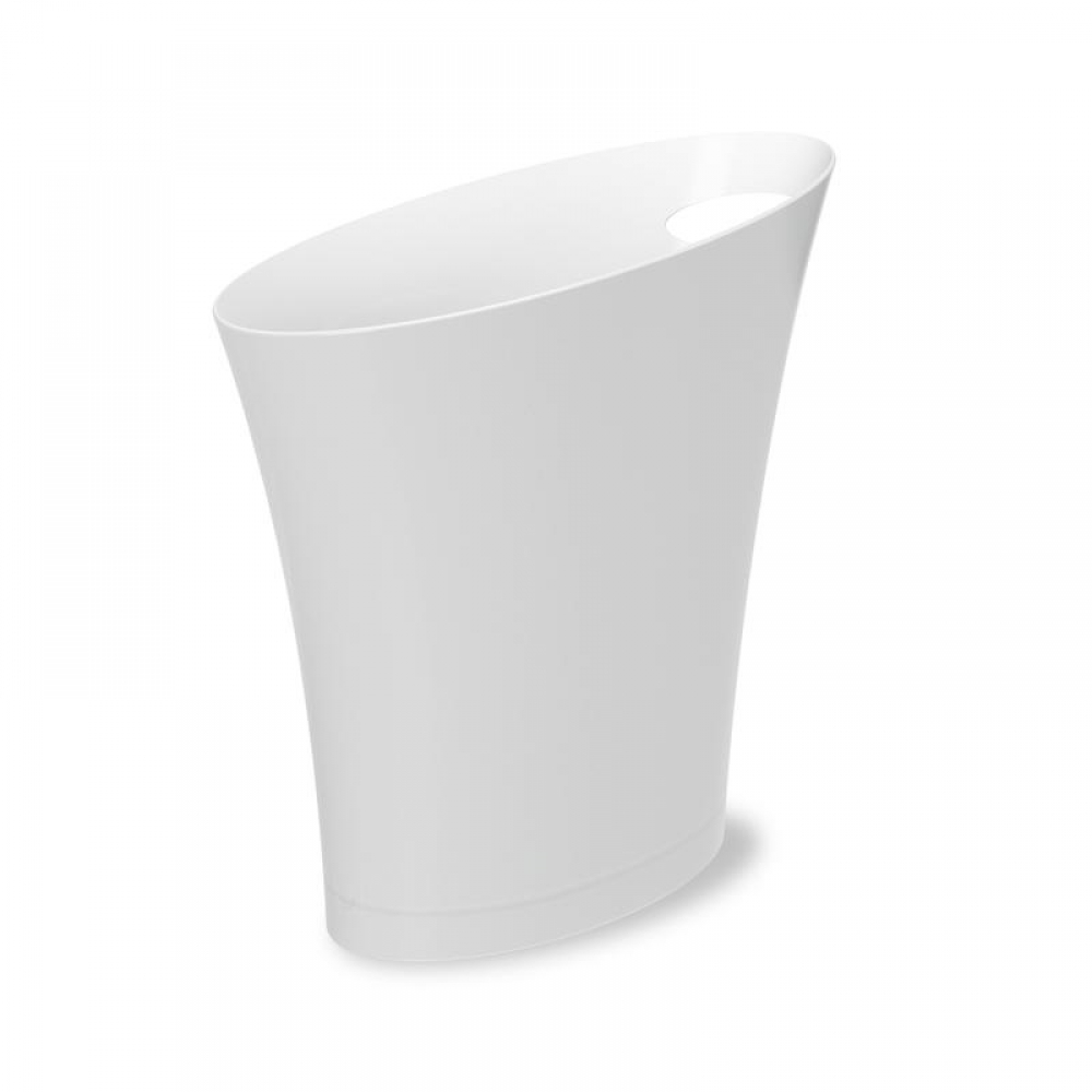 Cos de gunoi modern Skinny alb H33cm imagine 2021 insignis.ro