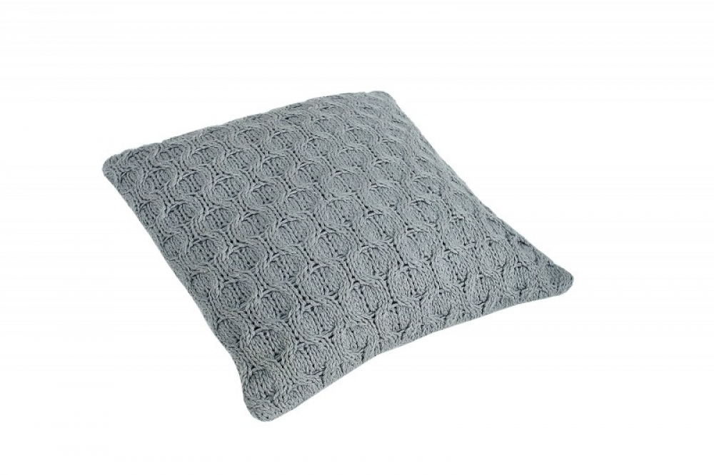 Perna decorativa tricotata Cosy gri 45x45cm imagine 2021 insignis.ro