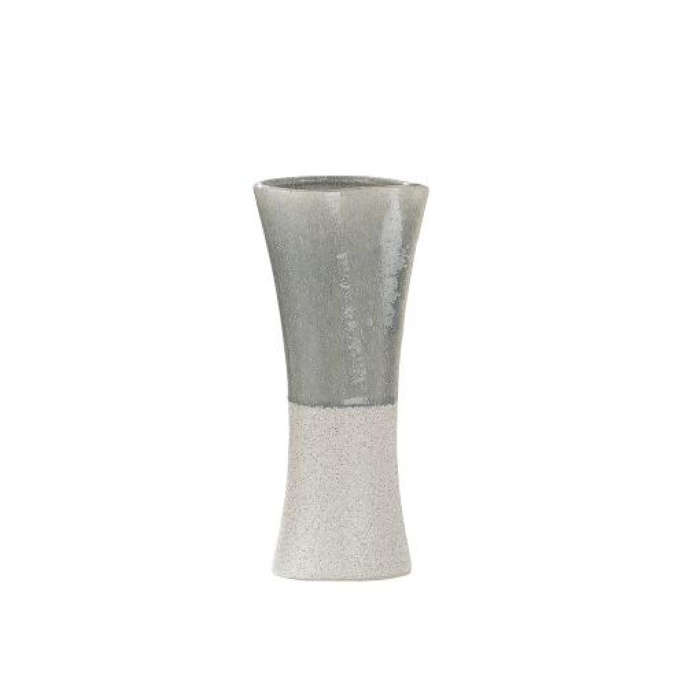 Vaza decorativa din ceramica bej albastru Oceano H40cm imagine 2021 insignis.ro