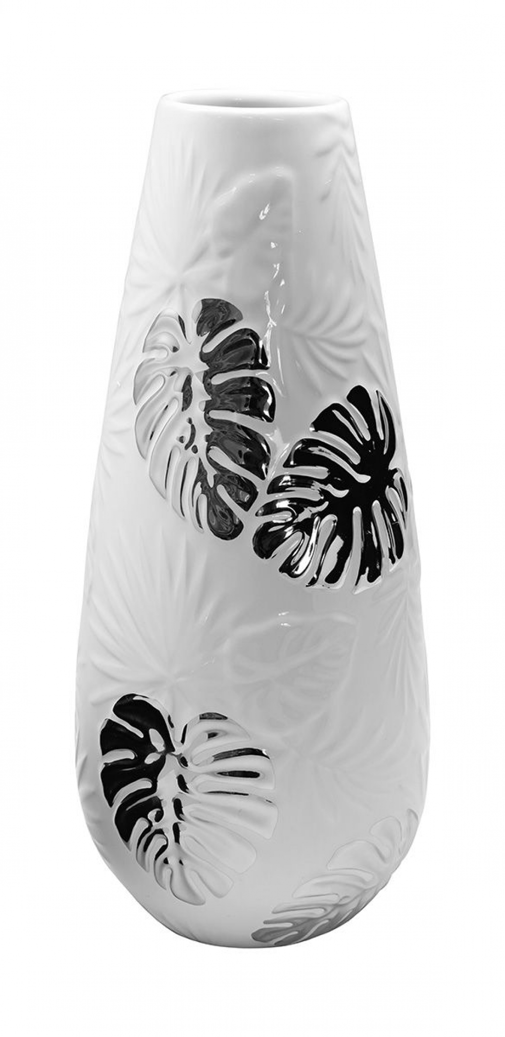 Vaza decorativa cu detalii argintii Putumayo H25cm imagine 2021 insignis.ro