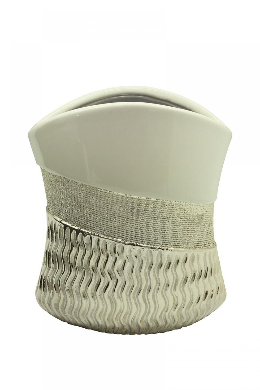 Vaza decorativa din ceramica cu design modern Sonara H20cm imagine 2021 insignis.ro