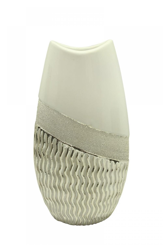 Vaza decorativa din ceramica cu design modern Sonara H35cm imagine 2021 insignis.ro