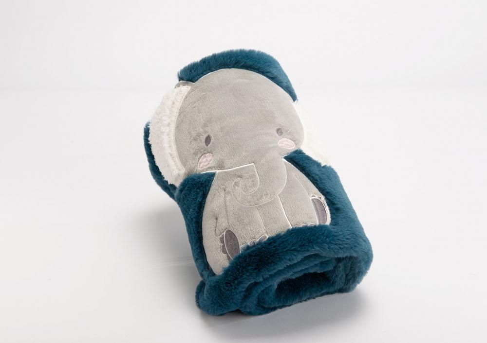 Paturica elefant 75x100cm albastru imagine 2021 insignis.ro
