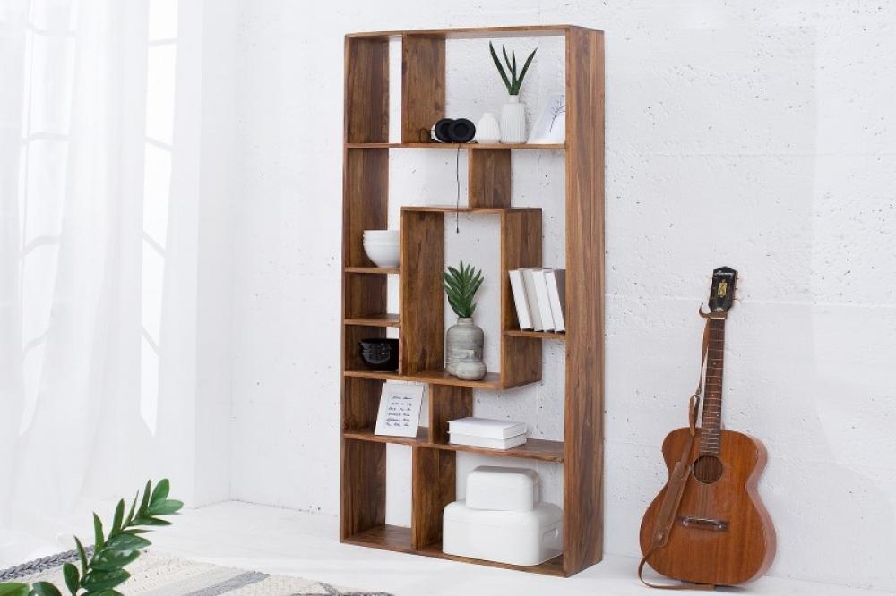 Biblioteca din lemn de palisandru Makassar 80x180x25cm imagine 2021 insignis.ro