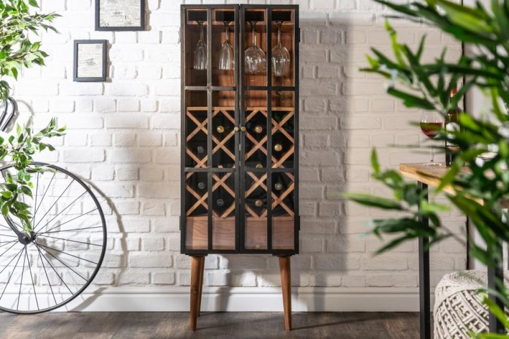 Bar din lemn masiv de salcam Bodega 50x 145 x 40cm imagine 2021 insignis.ro