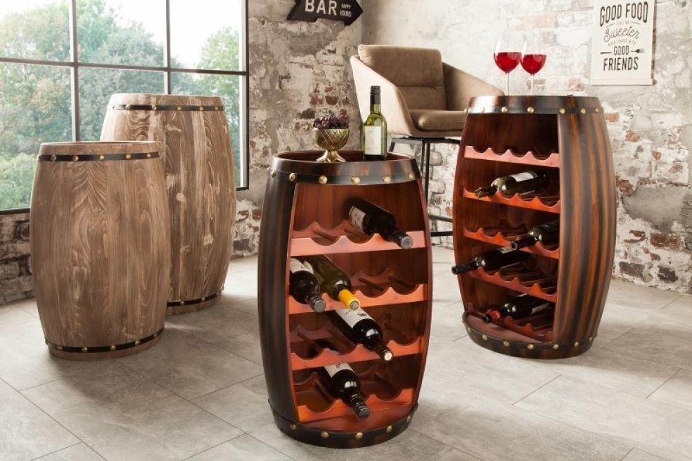 Bar din lemn masiv de brad in stil colonial Padrino 40x64x38cm finisaj cafea imagine 2021 insignis.ro