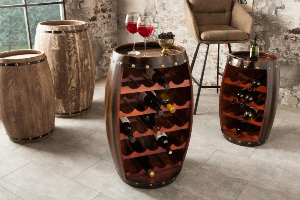 Bar din lemn masiv de brad in stil colonial Padrino 50x80x45cm finisaj cafea imagine 2021 insignis.ro