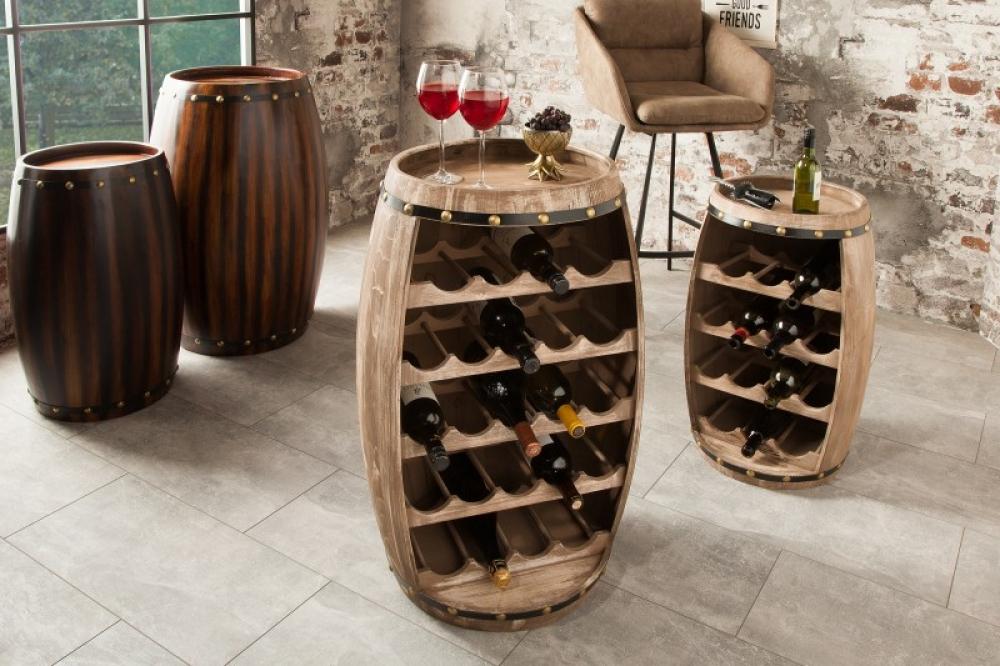 Bar din lemn masiv de brad in stil colonial Padrino 50x80x45cm finisaj natural imagine 2021 insignis.ro