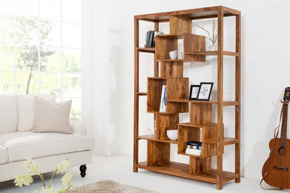 Biblioteca din lemn masiv de palisandru Cubus XL H180cm imagine 2021 insignis.ro