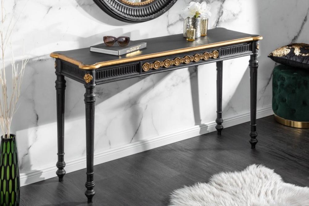Consola eleganta Venice L125cm negru imagine 2021