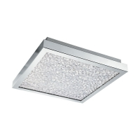Plafoniera patrata Cardonsi Crom Transparent  LED 16W
