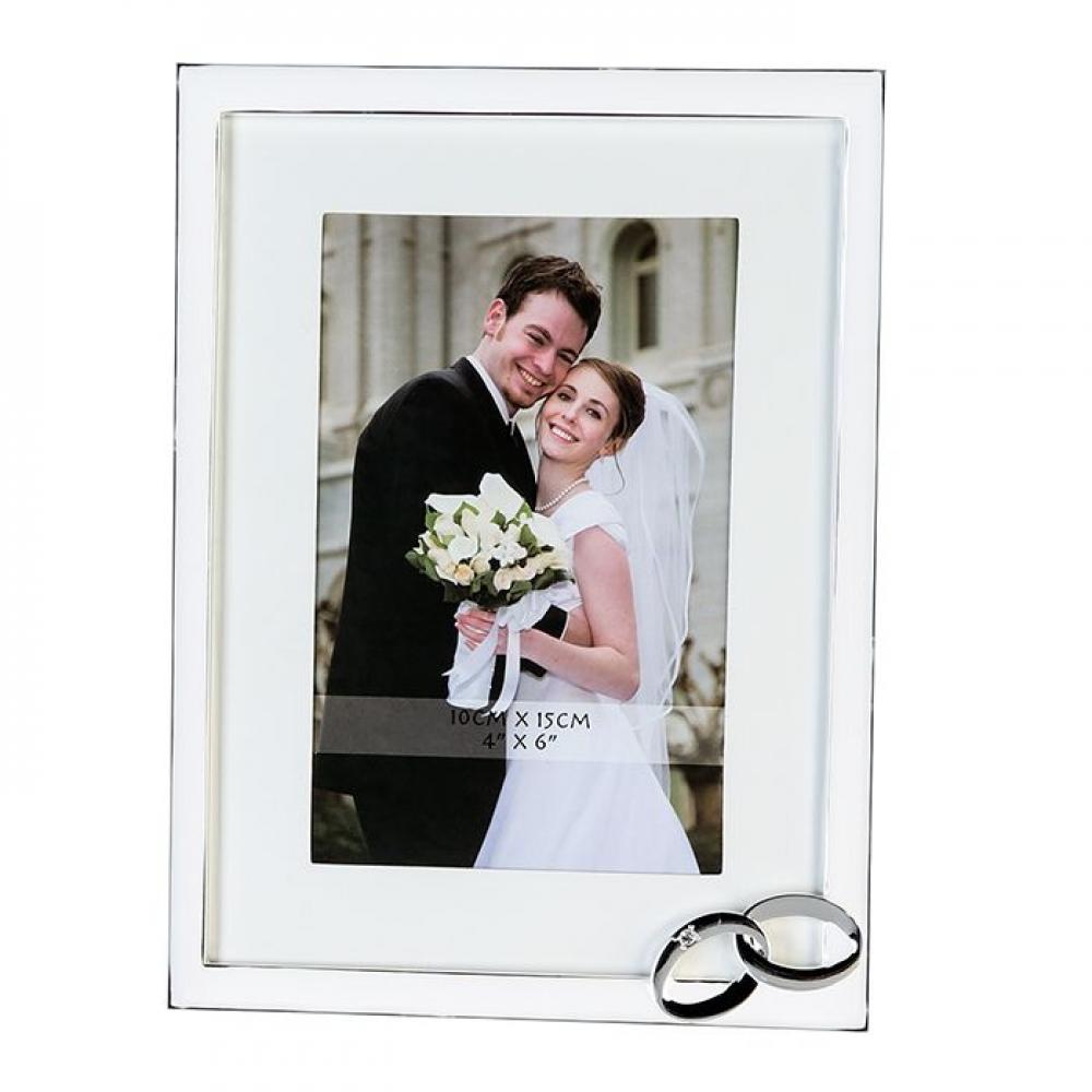 Rama foto decorativa Wedding H20.5cm imagine 2021 insignis.ro
