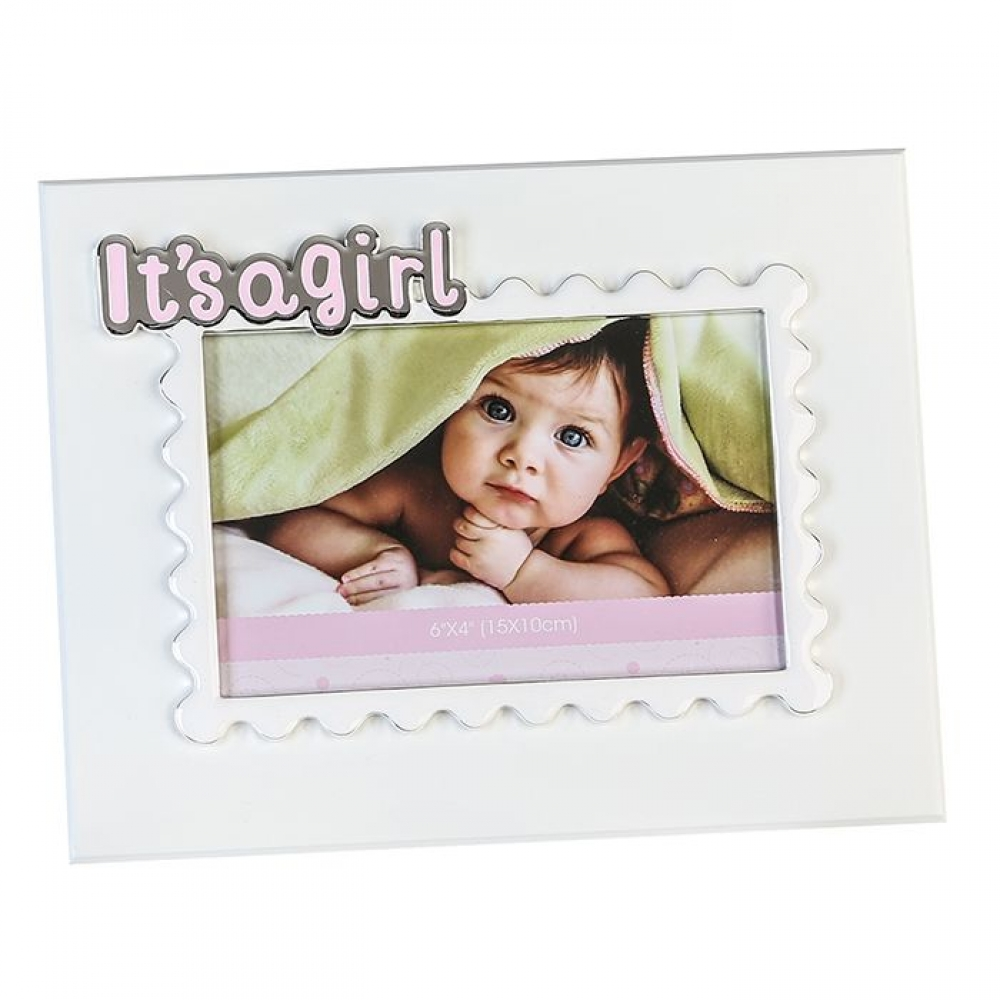 Rama foto decorativa Its a girl format foto 10 x 15cm imagine 2021 insignis.ro