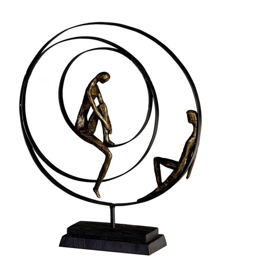 Statueta decorativa cu baza din metal Rabdare H41cm imagine 2021 insignis.ro