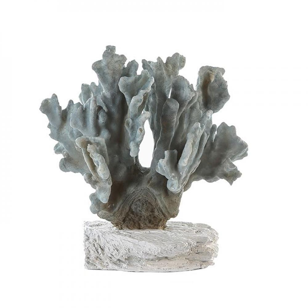 Figurina decorativa Coral albastru H26cm imagine 2021 insignis.ro
